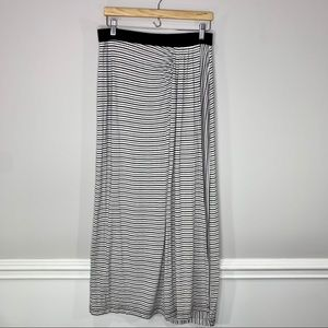 Lou & Grey ❤️ Wrap Ruched Striped Maxi Skirt